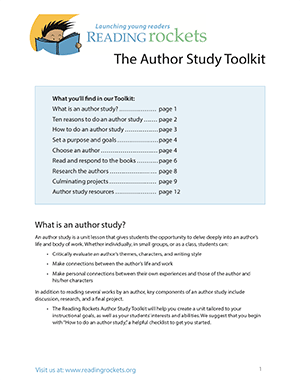 Author Study Toolkit