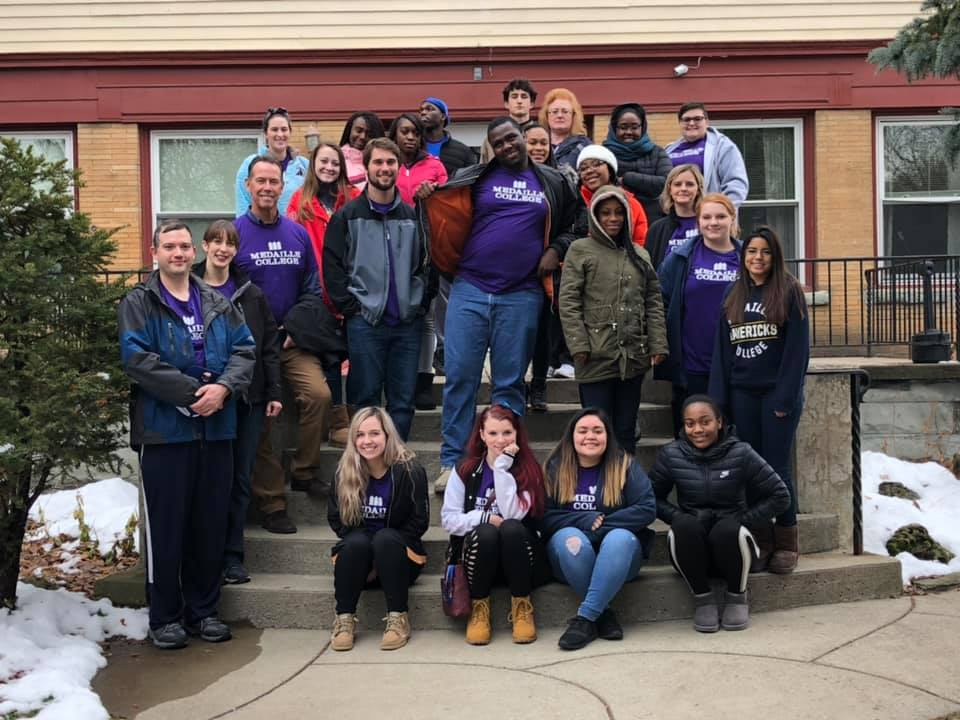 Pathways Community Service Project at Compass House Dec. 2018