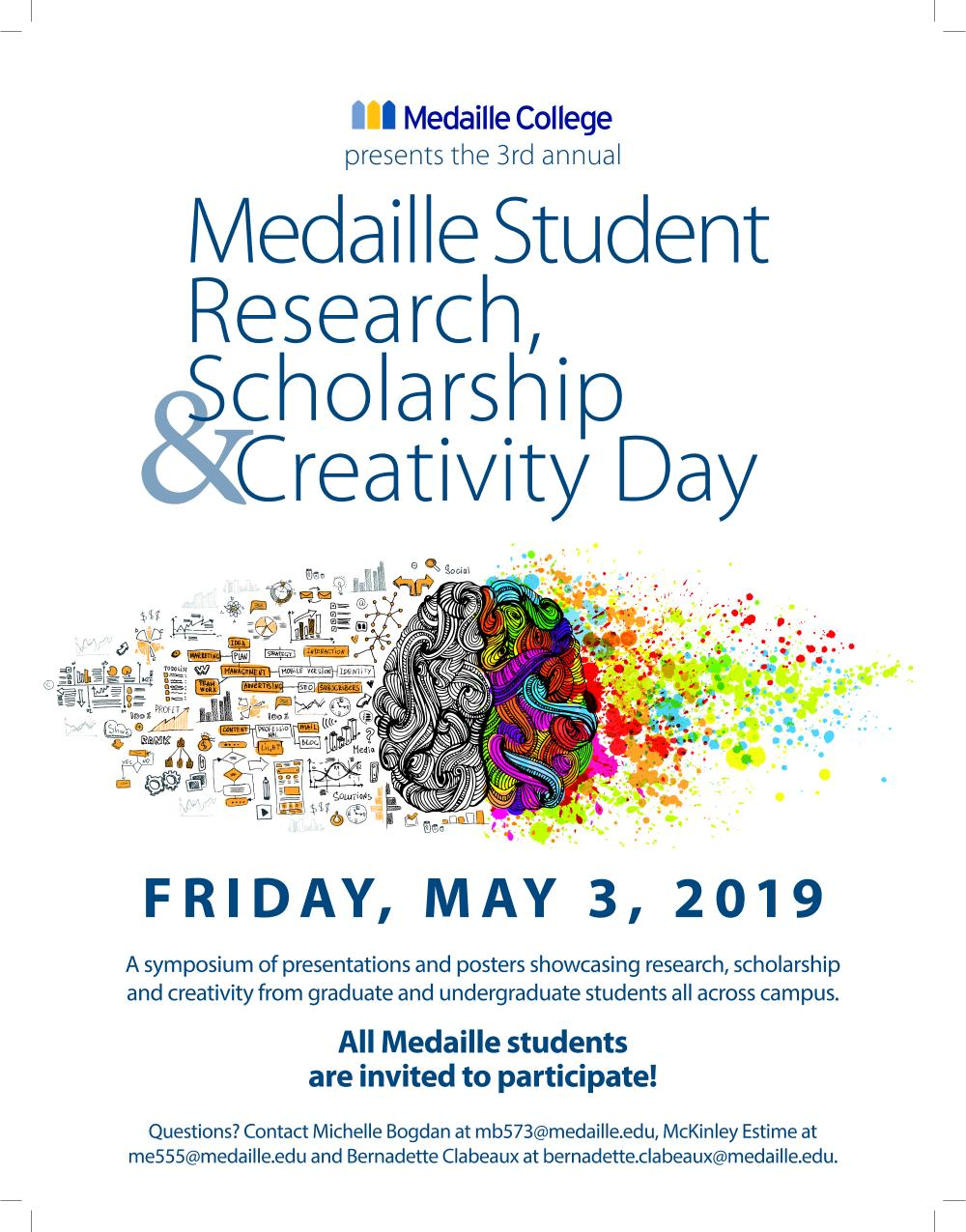 Student Scholarship Research Creativity Flyer