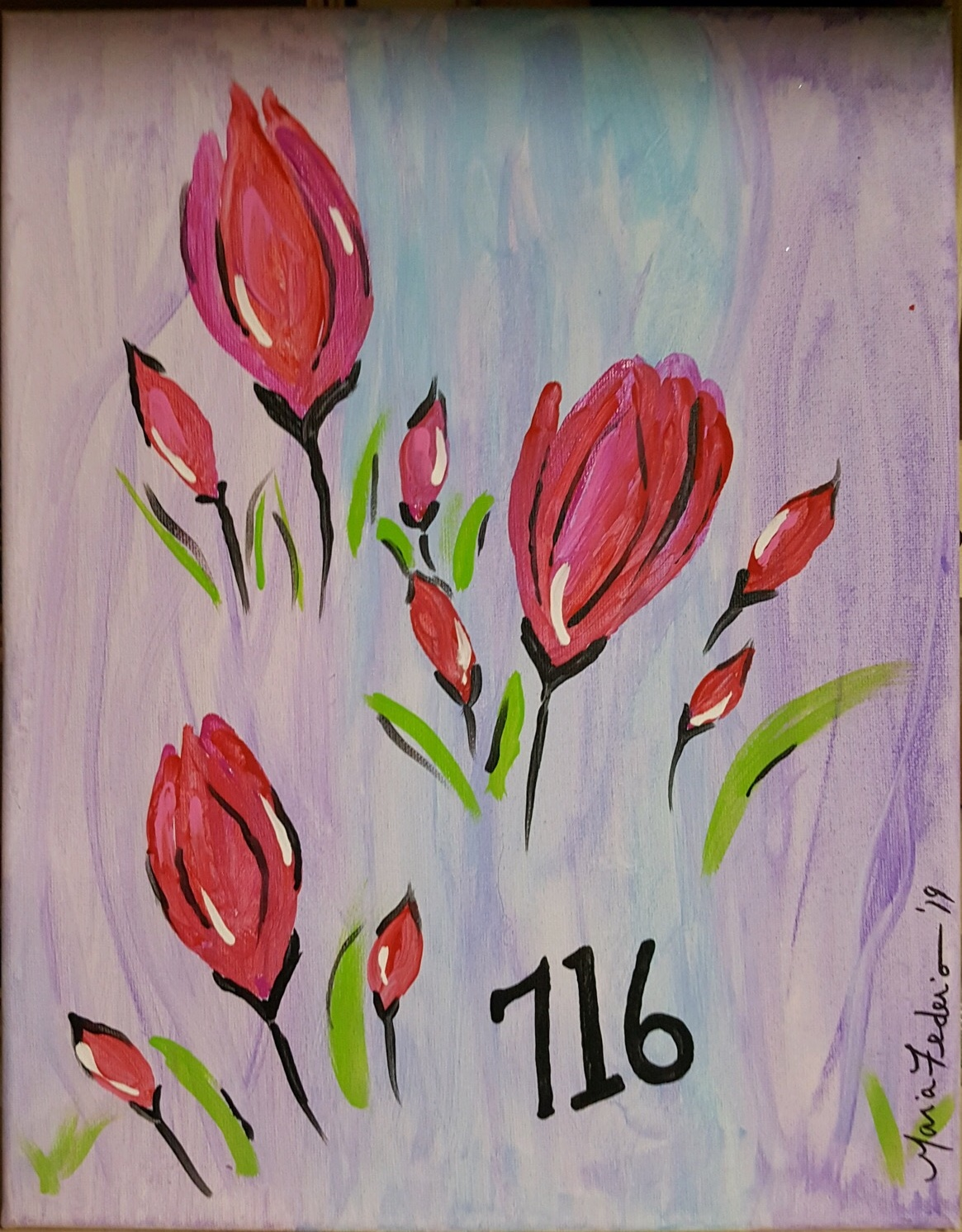 painting for april 2019 paint night