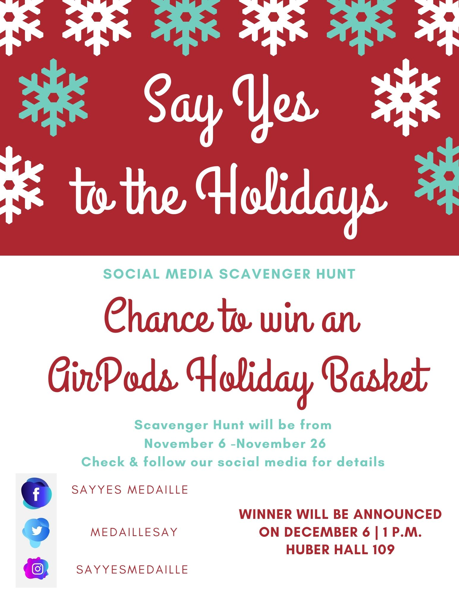 Say Yes to the Holidays flyer