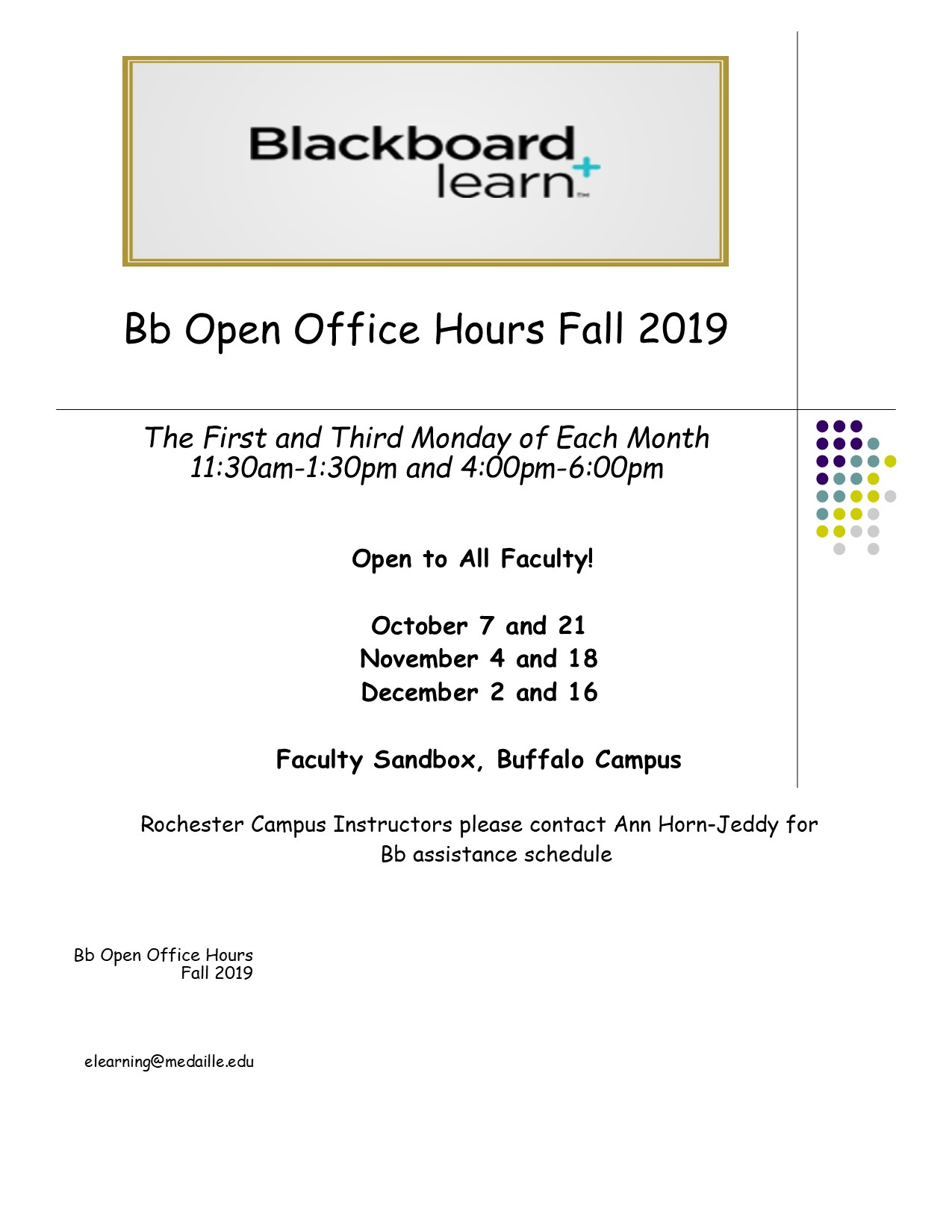blackboard open hours